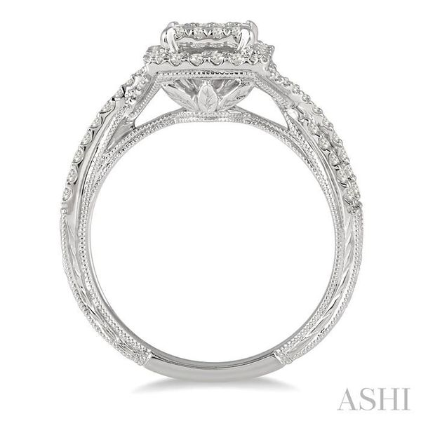 5/8 Ctw Diamond Lovebright Engagement Ring in 14K White Gold Image 3 Seita Jewelers Tarentum, PA