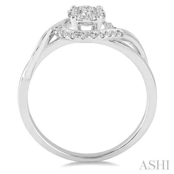 1/3 Ctw Round Cut Diamond Lovebright Engagement Ring in 14K White Gold Image 3 Seita Jewelers Tarentum, PA