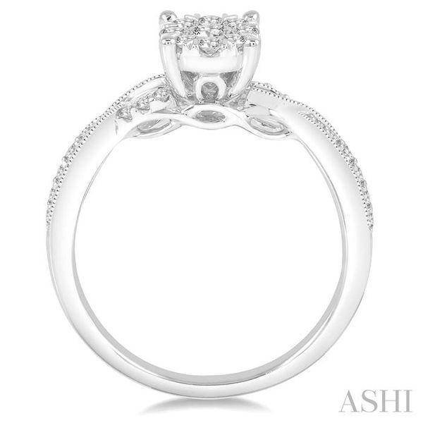 1/2 Ctw Round Cut Diamond Lovebright Engagement Ring in 14K White Gold Image 3 Seita Jewelers Tarentum, PA