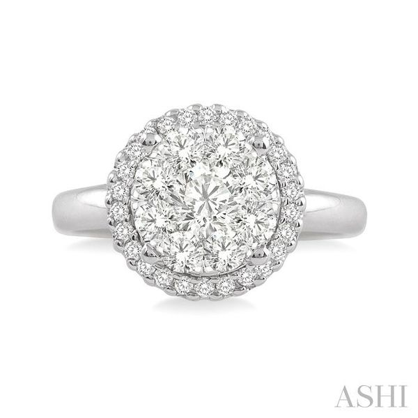 1/2 Ctw Lovebright Round Cut Diamond Engagement Ring in 14K White Gold Image 2 Seita Jewelers Tarentum, PA
