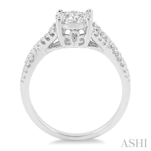 5/8 Ctw Lovebright Round Cut Diamond Engagement Ring in 14K White Gold Image 3 Seita Jewelers Tarentum, PA