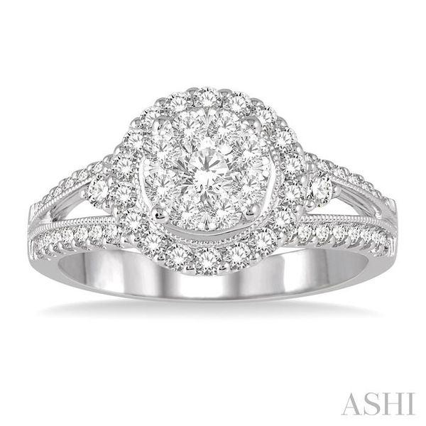 1 1/10 Ctw Lovebright Round Cut Diamond Engagement Ring in 14K White Gold Image 2 Seita Jewelers Tarentum, PA