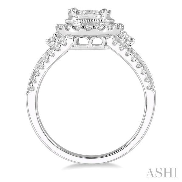 1 1/10 Ctw Lovebright Round Cut Diamond Engagement Ring in 14K White Gold Image 3 Seita Jewelers Tarentum, PA