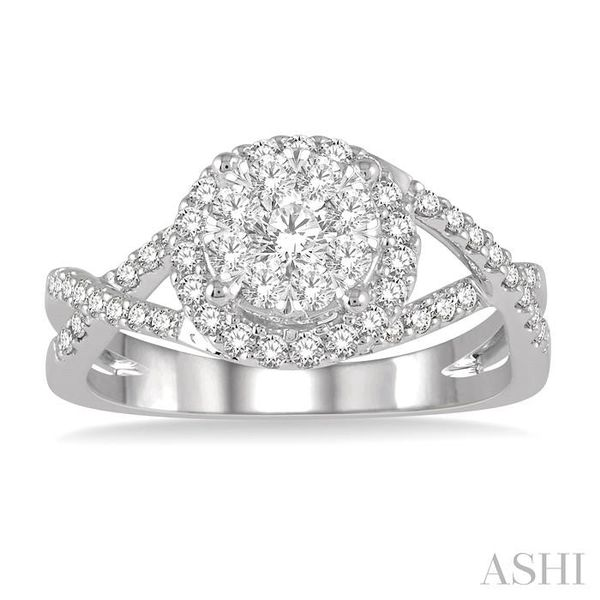 3/4 Ctw Lovebright Round Cut Diamond Engagement Ring in 14K White Gold Image 2 Seita Jewelers Tarentum, PA