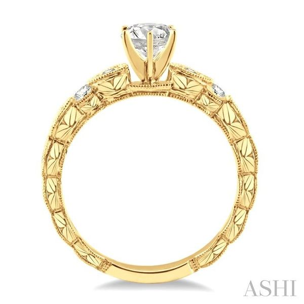 1/2 Ctw Diamond Engagement Ring with 1/4 Ct Round Cut Center Stone in 14K Yellow Gold Image 3 Seita Jewelers Tarentum, PA