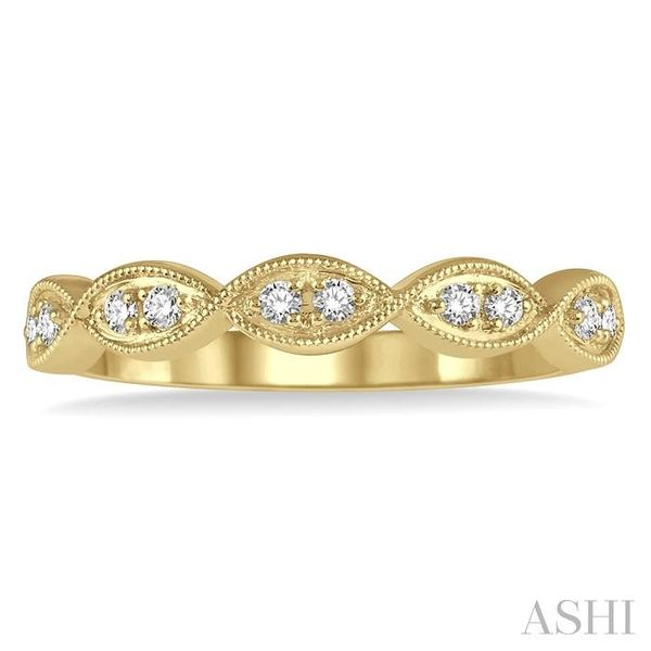 1/8 ctw Twisted Marquise Mount Round Cut Diamond Fashion Band in 14K Yellow Gold Image 2 Seita Jewelers Tarentum, PA