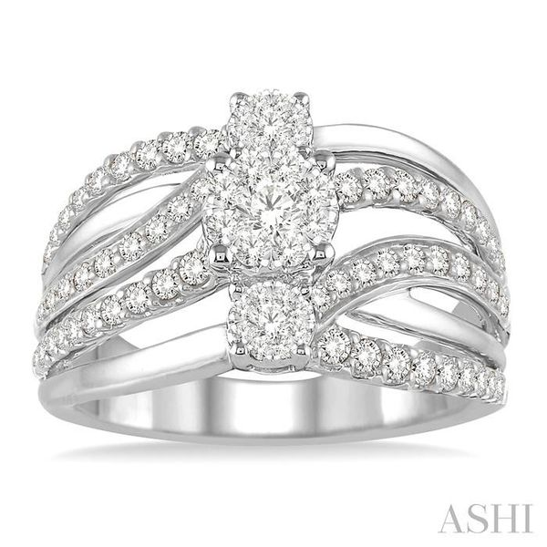 1 Ctw Round Cut Diamond Lovebright Ring in 14K White Gold Image 2 Seita Jewelers Tarentum, PA