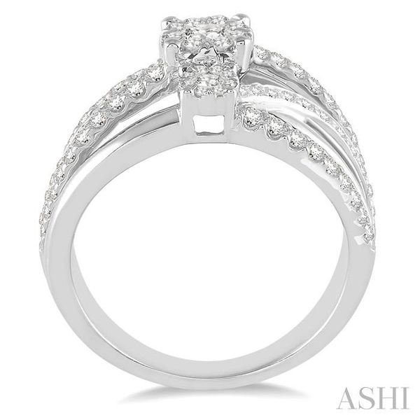 1 Ctw Round Cut Diamond Lovebright Ring in 14K White Gold Image 3 Seita Jewelers Tarentum, PA