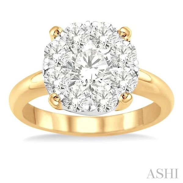 2 Ctw Lovebright Round Cut Diamond Ring in 14K Yellow and White Gold Image 2 Seita Jewelers Tarentum, PA