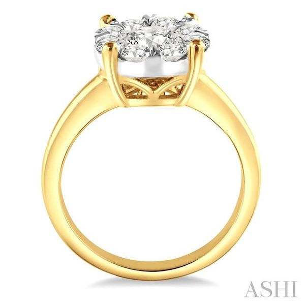 2 Ctw Lovebright Round Cut Diamond Ring in 14K Yellow and White Gold Image 3 Seita Jewelers Tarentum, PA