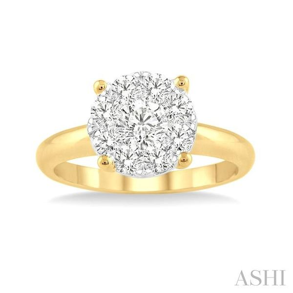 1/2 Ctw Lovebright Round Cut Diamond Ring in 14K Yellow and White Gold Image 2 Seita Jewelers Tarentum, PA