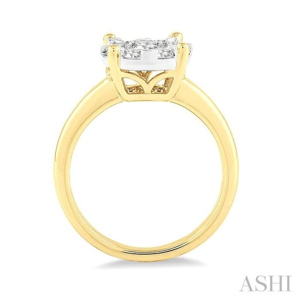 1/2 Ctw Lovebright Round Cut Diamond Ring in 14K Yellow and White Gold Image 3 Seita Jewelers Tarentum, PA