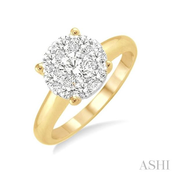 1/3 Ctw Lovebright Round Cut Diamond Ring in 14K Yellow and White Gold Seita Jewelers Tarentum, PA