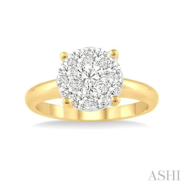 1/3 Ctw Lovebright Round Cut Diamond Ring in 14K Yellow and White Gold Image 2 Seita Jewelers Tarentum, PA