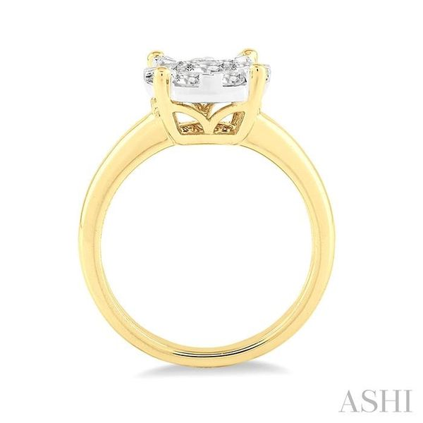 1/3 Ctw Lovebright Round Cut Diamond Ring in 14K Yellow and White Gold Image 3 Seita Jewelers Tarentum, PA