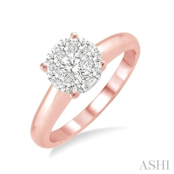 1/8 Ctw Lovebright Round Cut Diamond Ring in 14K Rose Gold Seita Jewelers Tarentum, PA