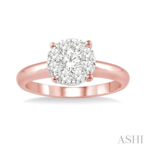 1/8 Ctw Lovebright Round Cut Diamond Ring in 14K Rose Gold Image 2 Seita Jewelers Tarentum, PA