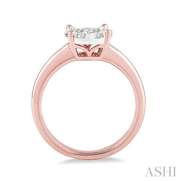 1/8 Ctw Lovebright Round Cut Diamond Ring in 14K Rose Gold Image 3 Seita Jewelers Tarentum, PA