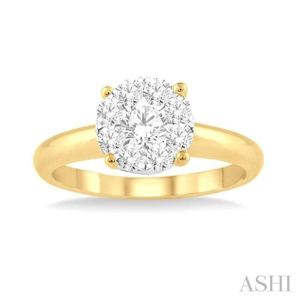 1/8 Ctw Lovebright Round Cut Diamond Ring in 14K Yellow Gold Image 2 Seita Jewelers Tarentum, PA