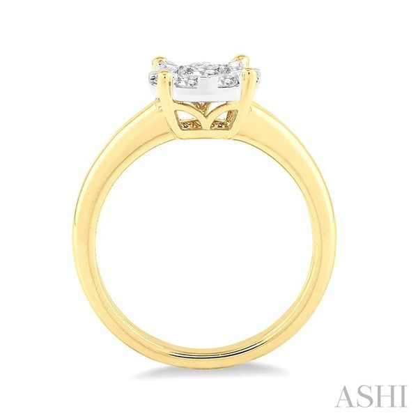 1/8 Ctw Lovebright Round Cut Diamond Ring in 14K Yellow Gold Image 3 Seita Jewelers Tarentum, PA