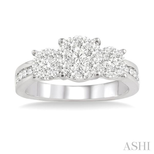 3/4 Ctw Lovebright Round Cut Diamond Ring in 14K White Gold Image 2 Seita Jewelers Tarentum, PA