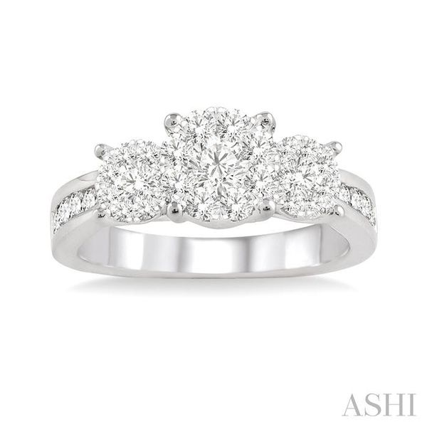1/2 Ctw Lovebright Round Cut Diamond Ring in 14K White Gold Image 2 Seita Jewelers Tarentum, PA