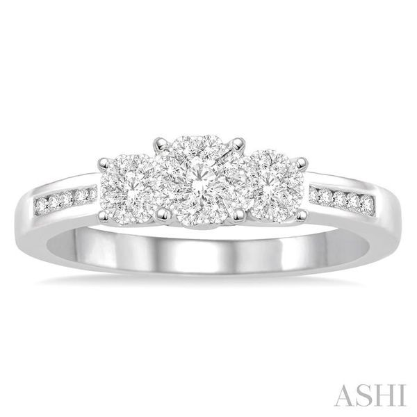 1/3 Ctw Round Cut Diamond Lovebright Ring in 14K White Gold Image 2 Seita Jewelers Tarentum, PA