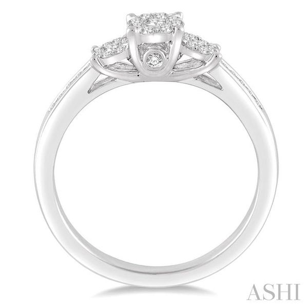 1/3 Ctw Round Cut Diamond Lovebright Ring in 14K White Gold Image 3 Seita Jewelers Tarentum, PA