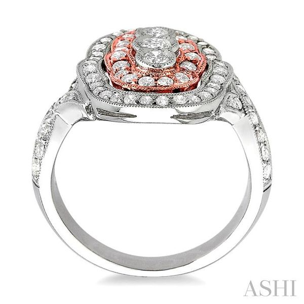 1 1/10 Ctw Round Cut Diamond Fashion Ring in 14K White and Rose Gold Image 3 Seita Jewelers Tarentum, PA