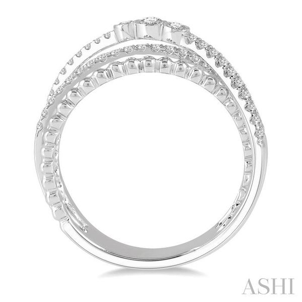 1/3 ctw Open Crossover Diamond Fashion Ring in 14K White Gold Image 3 Seita Jewelers Tarentum, PA