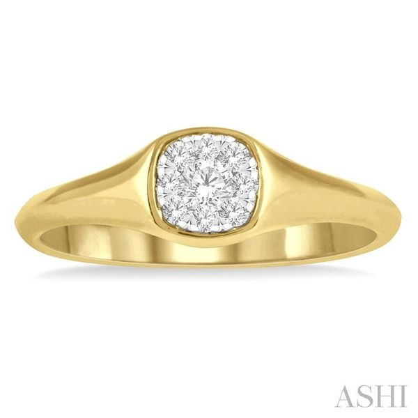 1/6 ctw Cushion Shape Lovebright Diamond Ring in 14K Yellow and White Gold Image 2 Seita Jewelers Tarentum, PA