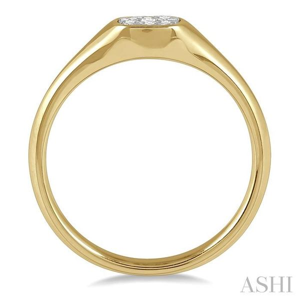 1/6 ctw Cushion Shape Lovebright Diamond Ring in 14K Yellow and White Gold Image 3 Seita Jewelers Tarentum, PA