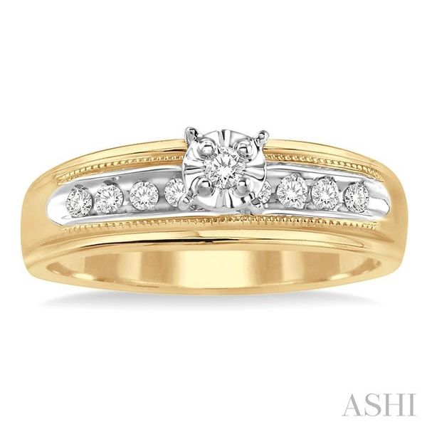 1/8 Ctw Round Cut Diamond Ladies Duo Ring in 14K Yellow Gold Image 2 Seita Jewelers Tarentum, PA