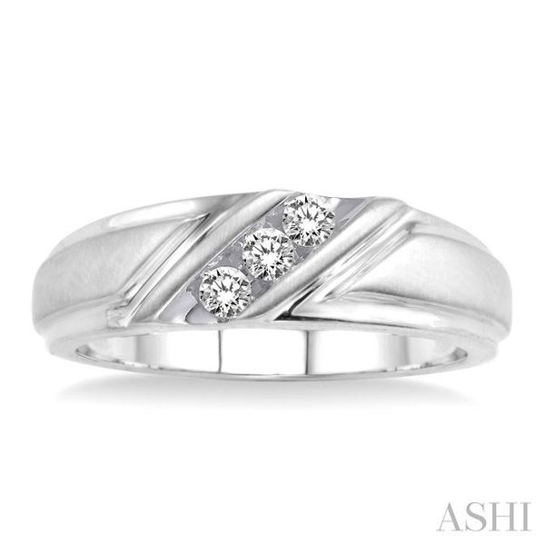 1/8 Ctw Round Cut Diamond Ladies Duo Ring in 14K White Gold Image 2 Seita Jewelers Tarentum, PA
