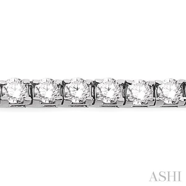 7 Ctw Square Shape Round Cut Diamond Tennis Bracelet in 14K White gold Image 3 Seita Jewelers Tarentum, PA