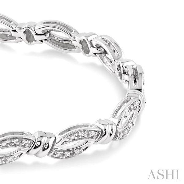 1/6 Ctw Knot Shape Single Cut Diamond Tennis Bracelet in Sterling Silver Image 2 Seita Jewelers Tarentum, PA