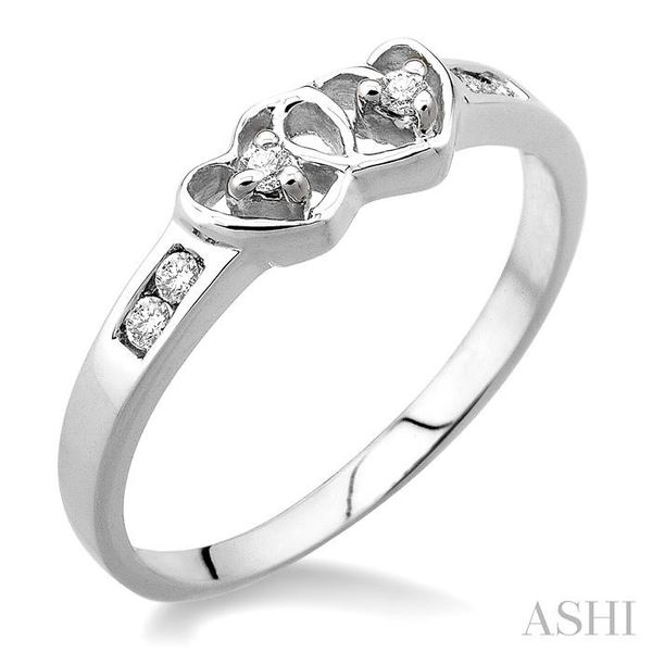 1/10 Ctw Round Cut Diamond Twin Heart Ring in Sterling Silver Seita Jewelers Tarentum, PA