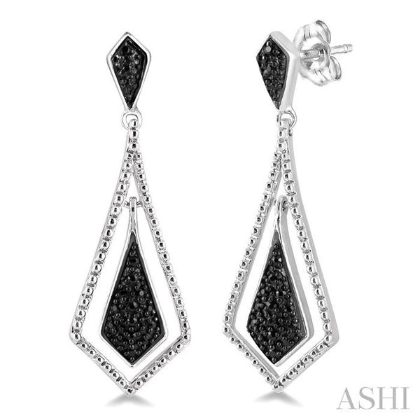 1/10 Ctw Round Cut Black Diamond Fashion Earrings in Sterling Silver Seita Jewelers Tarentum, PA