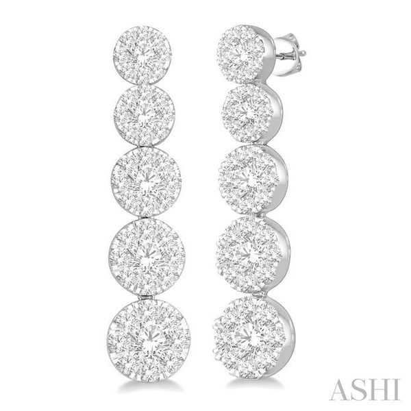 1 1/6 Ctw Lovebright Round Cut Diamond Earrings in 14K White Gold Seita Jewelers Tarentum, PA
