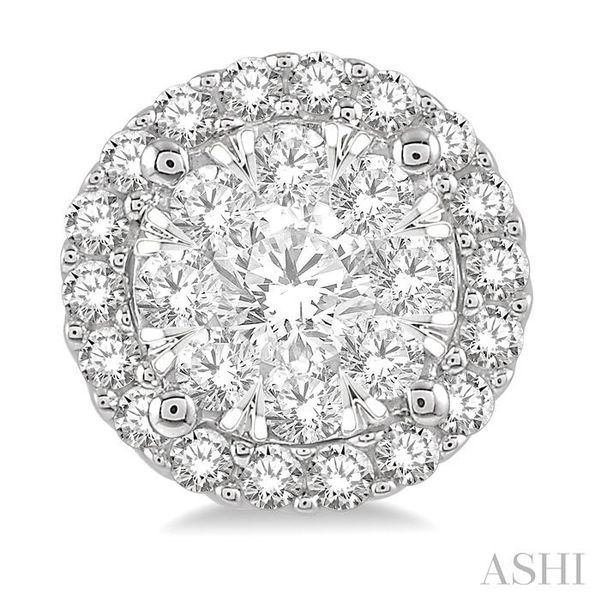 1/2 Ctw Lovebright Round Cut Diamond Stud Earrings in 14K White Gold Image 2 Seita Jewelers Tarentum, PA