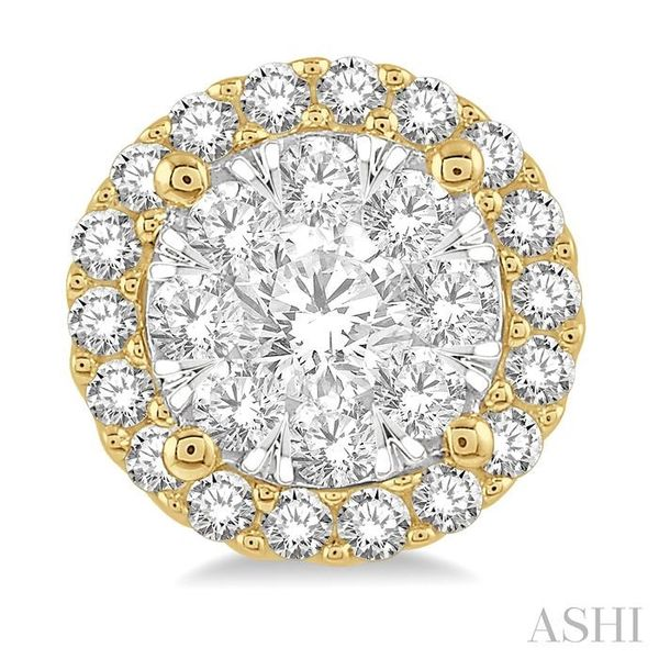1/2 Ctw Lovebright Round Cut Diamond Stud Earrings in 14K Yellow and White Gold Image 2 Seita Jewelers Tarentum, PA