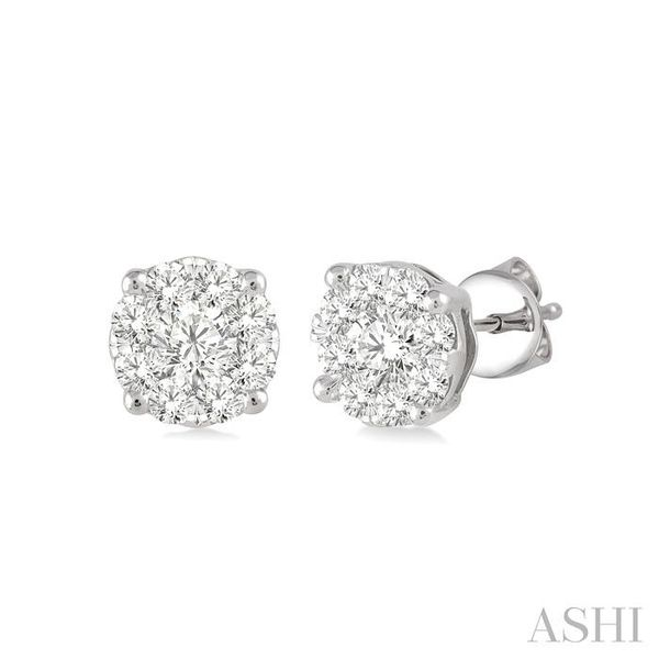 1/4 Ctw Lovebright Round Cut Diamond Earrings in 14K White Gold Seita Jewelers Tarentum, PA