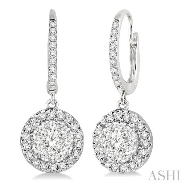 3/8 Ctw Round Cut Diamond Lovebright Earrings in 14K White Gold Seita Jewelers Tarentum, PA