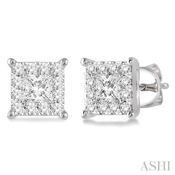 3/4 Ctw Lovebright Diamond Earrings in 14K White Gold Seita Jewelers Tarentum, PA