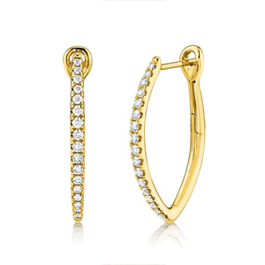 diamond hoop earrings, diamond stud earrings, diamond earrings, fashion earrings at Bremer Jewelry in Peoria, IL and bloomington