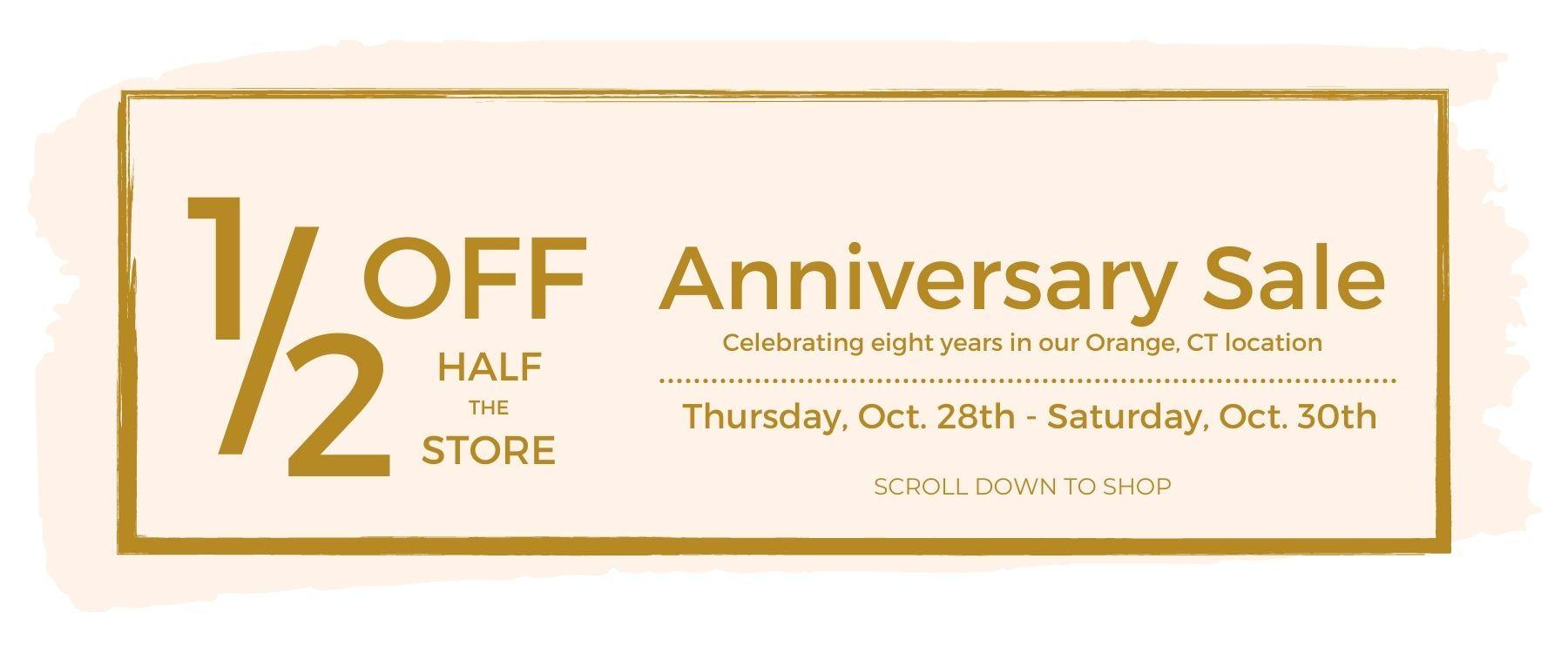 Cellini Design Jewelers Annual Half Off Half The Store Anniversary Sale.