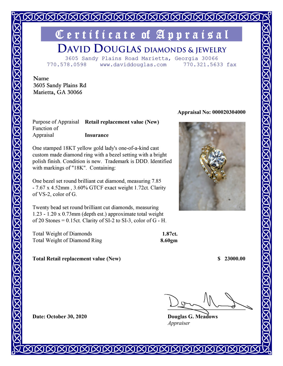Jewelry Insurance Appraisal