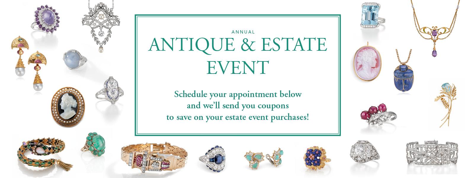 Antique Estate Event at Dickinson Jewelers