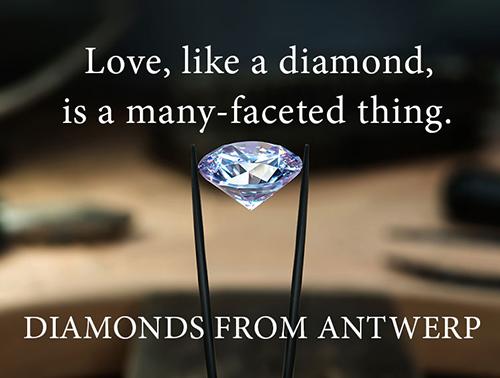 Advertisement for Antwerp Diamonds