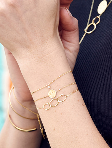 Closeup of Ania Haie Jewelry on Wrists